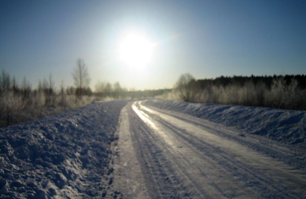 зимняя дорога к утреннему Солнцу