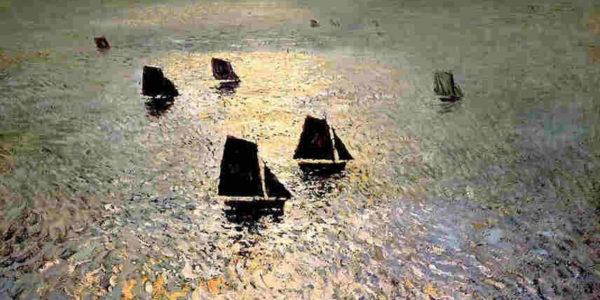 темные корабли на море